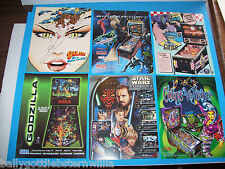 Lot Of (6) ORIGINAL PINBALL MACHINE FLYERS STAR WARS SPIDERMAN DINER set  #28