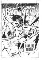 1959 BATMAN 77 ? BRAZILIAN COVER ACETATE W SIGNAL MAN PRODUCTION ART RETRO EBAL