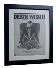 DEATH WISH II+JIMMY PAGE+Soundtrack+POSTER+AD+ORIG 1982+FRAMED+FAST GLOBAL SHIP