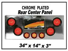 Rear Center Panel with Red LED Lights (Red Lens) Semi Trucks