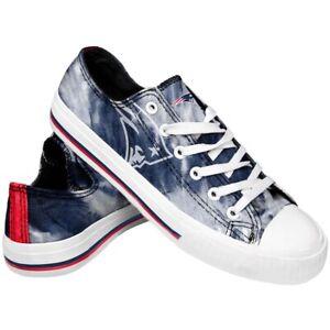 New England Patriots Women's Low Top Tie-Dye Canvas Shoes