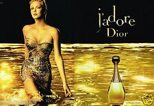 Publicité advertising 2010 (2 pages) Parfum J'adore Dior Avec Charlize Theron