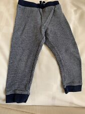 Janie & Jack Infant Boys Navy Blue Houndstooth Joggers Pants Size 18-24M Euc