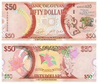 Guyana 50 Dollars 2016 Commemorative  P-41 Banknotes UNC