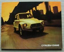 CITROEN DYANE Car Sales Brochure Sept 1971 DUTCH TEXT