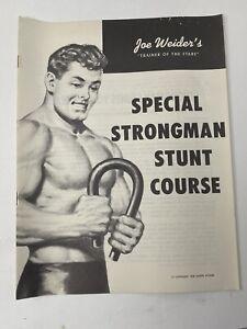 Vintage 1959 Joe Weider Bodybuilding Booklet Strongman Stunt Course Guide