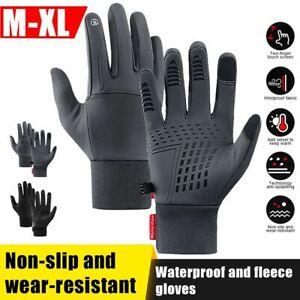 Ski Outdoor Sport Full Finger Touch Screen Bike Gloves Warm Thermal Fleece