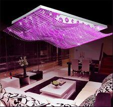 Luxury 4 Color K9 Crystal LED Wave Chandelier Lamp Pendant Lighting Remote Hot