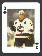 Pavel Bure Vancouver Canucks Scarce Hockey Playing Card from Sweden