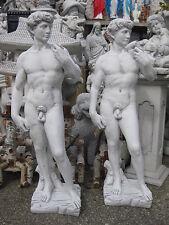 DAVID Steinfigur massiv Skulptur groß 120 cm Statue Adam Figur Deko Garten  Neu