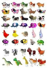SET/LOT OF 20 WALKING ANIMAL BALLOON PETS AIR WALKERS FOIL HELIUM BIRTHDAY PARTY