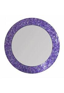 DecorShore 24 Mosaic Wall Mirror In Ultra Violet - Purple Decorative Wall Mirror