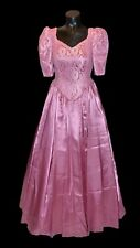 Unbranded Vintage 80s Pink Satin Bridesmaid Prom Party Formal Dress size 8