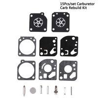 15Pcs/set Carburetor Carb Rebuild Kit Fit Zama RB-29Ryobi 26cc & 30cc Trimmer NA
