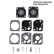 15Pcs/set Carburetor Carb Rebuild Kit Fit Zama RB-29 Ryobi 26cc &&30cc Trimme SY