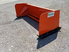 8' Low Pro Kubota Orange snow pusher box FREE SHIPPING skid steer Bobcat Case