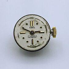 Vintage Ebel Swiss Jean-Claud Watch Co. 17J Unadj Incabloc Watch Movement & Dial