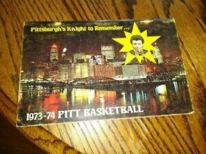1973-74 PITT PANTHERS BASKETBALL media guide BILLY KNIGHT, ORIGINAL