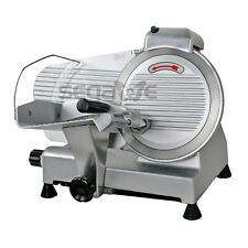 "NEW 240W 10"" Kitchen Deli Meat Slicer Electric 600RPM Cheese Food Slice Machine"