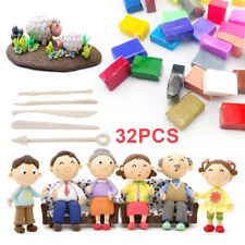 32 Mixed Color Set Oven Bake Fimo Polymer Soft Clay Modelling Moulding DIY Toys