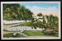 VNTG Postcard~ To Old Fort Mackinac~ Mackinac Island, Michigan~ C60