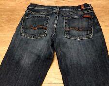 7 for all Mankind women's denim jeans Sz 27 W-29 L-32 R-7.5 Bootcut EUC
