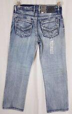 TK Axel Kensington Treadwell Distressed Straight Leg Mens Denim Blue Jeans 30x30