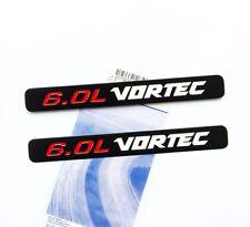 2x OEM 6.0L VORTEC emblem Badge 3D for Silverado Chevy 1500 2500 HD F2U White f