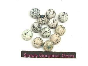 12 Pretty Round K2 Gemstone Beads - 8 mm
