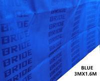 Black BRIDE Fabric Racing Car Seat Cover Cloth Decoration Material 1Mx1.6M