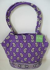 Vera Bradley Angle Tote Bag in Simply Violet Multi-Color Quilted Cotton NWT