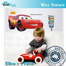Wall Stickers Removable Racing Car Disney McQueen Broken Wall Kids Room Decal C