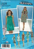 Misses Pullover Dress w/ Length Variations Project Runway Simplicity 3529 12-20