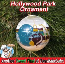Hollywood Park Horse Racing Ornament Vintage Satin Ball Horse Jockey New in Box