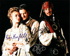 PIRATES OF THE CARIBBEAN CAST SIGNED 8X10 PHOTO RP JOHNNY DEPP ORLANDO BLOOM