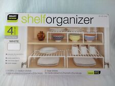 New listing Smart Design 4 Piece White Extendable Shelf Organizer Set