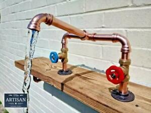 Copper Pipe Mixer Swivel Faucet Taps - Rustic / Vintage / Industrial