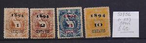 ! Guatemala 1894.  Stamp. YT#52/56(-55). €45.00!