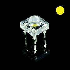 10 X Piranha Giallo 5mm Lampadina LED Super Flux