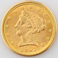 1907 $2.50 Liberty Head Gold Quarter Eagle Choice BU Condition! Beautiful Detail