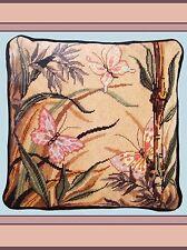 1 *VINTAGE NEEDLEPOINT*1988 CANDAMAR * Butterflies * Wool RARE