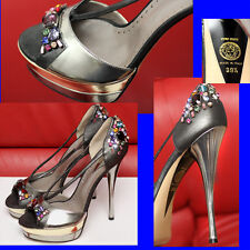 $1,495 GIANNI VERSACE Jeweled SANDALS SHOES w/ Price, Box & Bag (39 1/2)