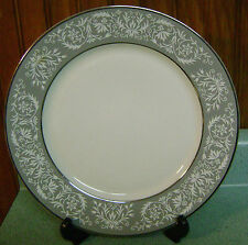 Embassy Dinner Plate - Grey with White Scrolls & Flowers