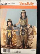 Simplicity 2329 Egyptian Cleopatra Goddess Egypt Costume Pattern Sz HH 3 4 5 6