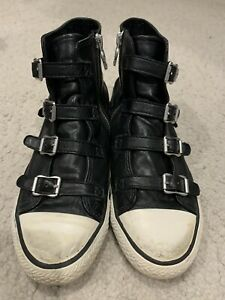 ash buckle up high top trainers