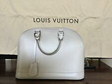 Louis Vuitton Alma Ivory EPI Leather Bag PM
