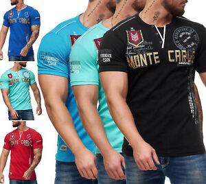 Herren T-Shirt Poloshirt Shirt Kurzarm Printshirt Polo Kurzarm 3459C