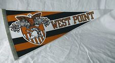 West Point Army Flag Pennant 1980's Black Knights Stripes Gold Military Vintage