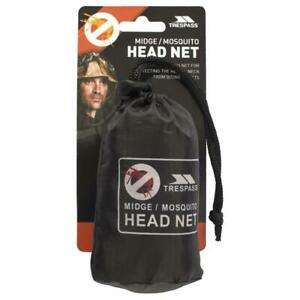 Trespass Mosquito Head Net Insect Midge Face Neck Protector Travel One Size