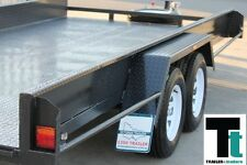 16x6'6 Tandem Car Carrier Box Car Trailer with sides  *NEW TYRES*